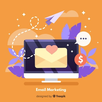 Fundo de e-mail marketing