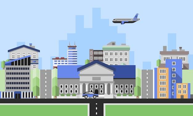 Fundo de edifícios de escritórios