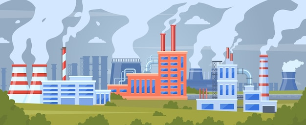 Fundo de edifícios industriais