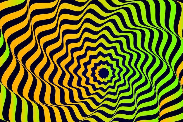 Fundo de efeito de ilusão com listras