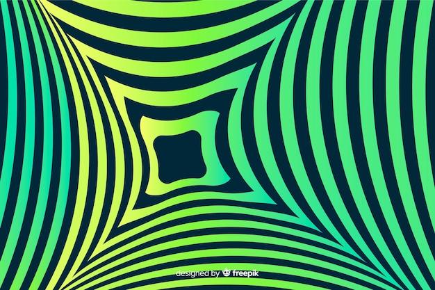 Fundo de efeito de ilusão de ótica gradiente