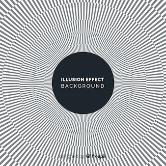 Fundo de efeito de ilusão de ótica