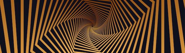 Fundo de efeito de ilusão vibrante com listras