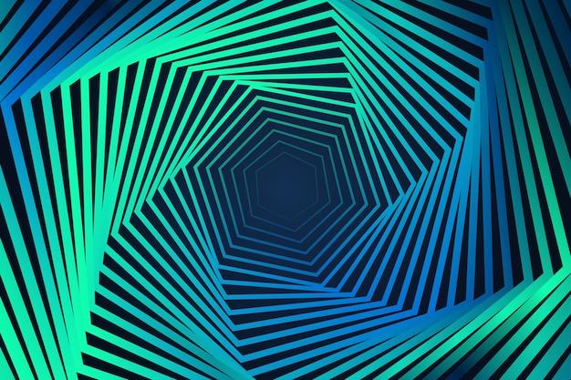 Fundo de efeito de ilusão vibrante