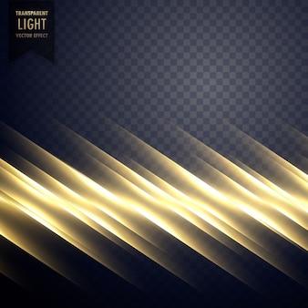 Fundo de efeito de linha de luz dourada elegante