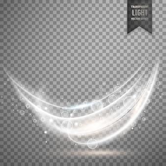 Fundo de efeito de luz branca transparente
