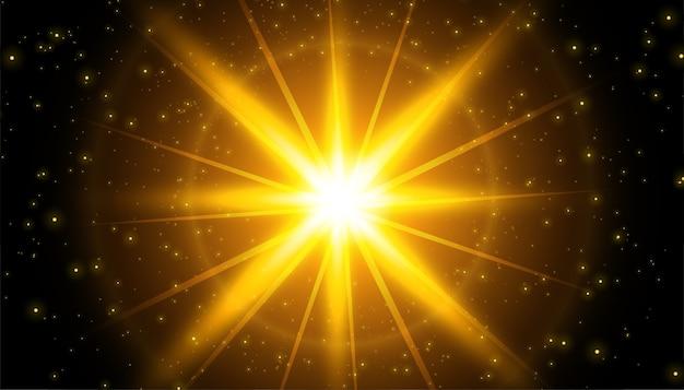 Fundo de efeito de luz brilhante com brilhos