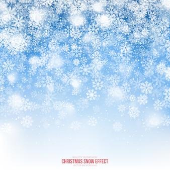 Fundo de efeito de neve de natal