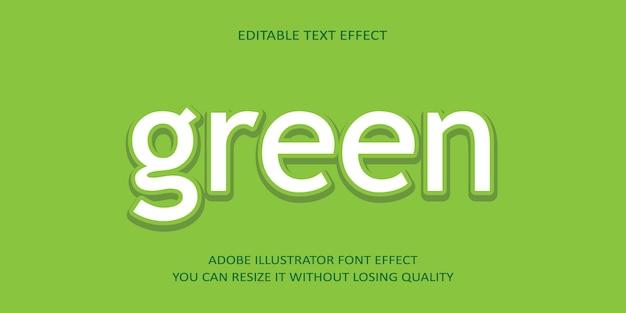 Fundo de efeito de texto editável verde