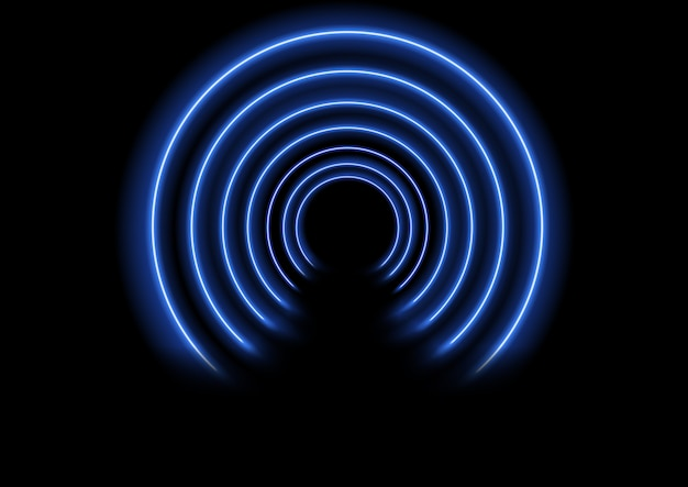 Fundo de efeito de túnel de néon