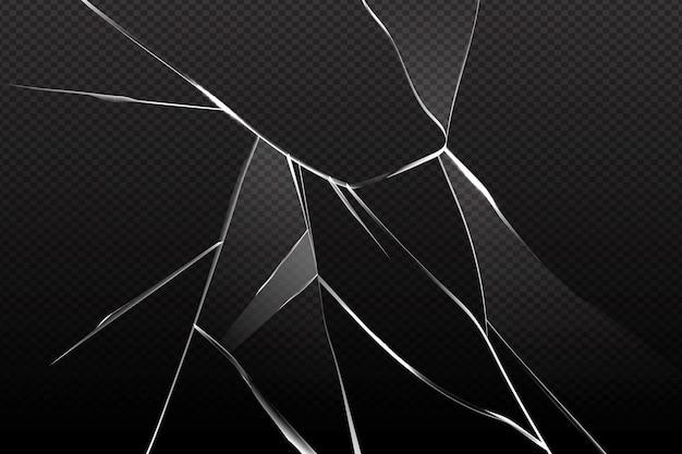 Fundo de efeito de vidro realista