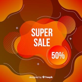 Fundo de efeito fluido de vendas