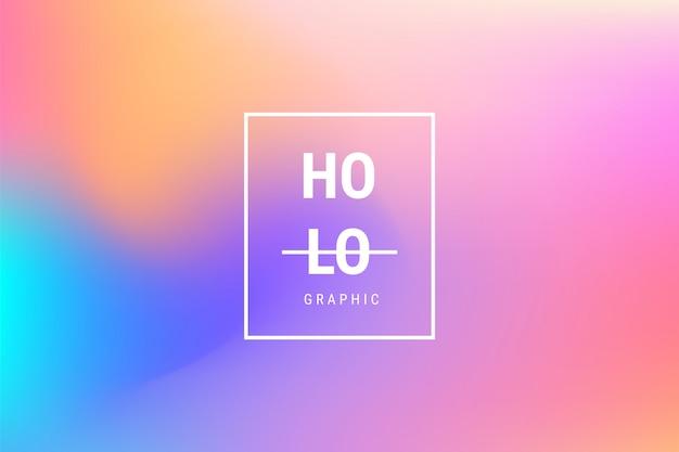 Fundo de efeito gradiente holográfico turva abstrata