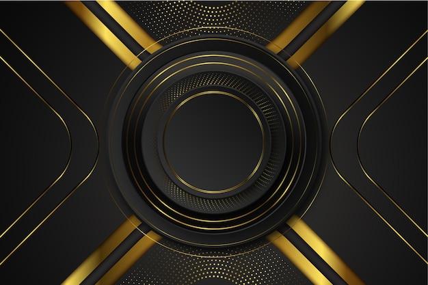 Fundo de elementos de design elegante e dourado