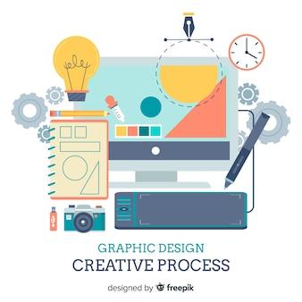 Fundo de elementos de design gráfico