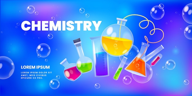 Fundo de elementos de laboratório de química