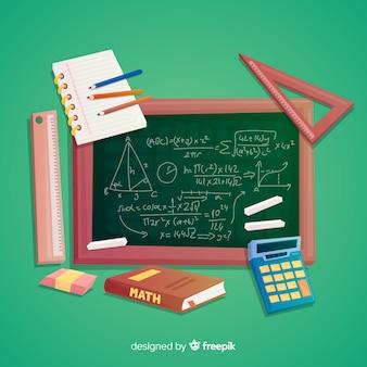 Fundo de elementos de matemática dos desenhos animados