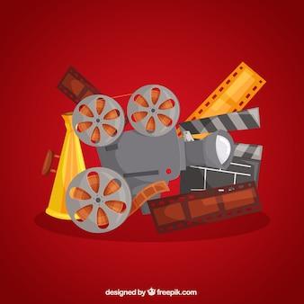 Fundo de elementos típicos de filmes