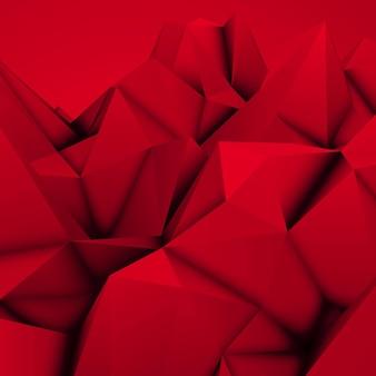 Fundo de elevação de mosaico triangular poligonal poligonal abstrato vermelho para impressões de pôsteres de design