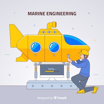 Fundo de engenharia naval plana