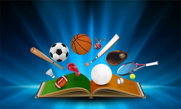 Fundo de equipamentos esportivos