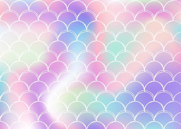 Fundo de escala gradiente com sereia holográfica