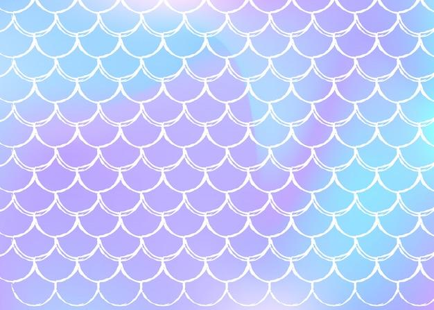 Fundo de escala holográfica com sereia gradiente.