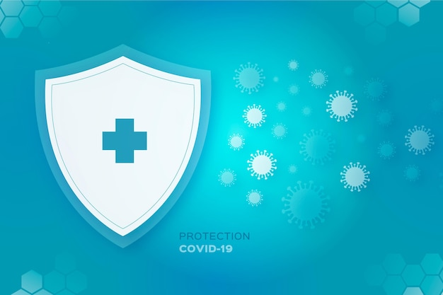 Fundo de escudo de proteção contra o coronavírus