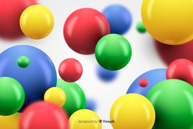 Fundo de esferas brilhantes fluindo
