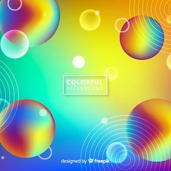 Fundo de esferas de arco-íris