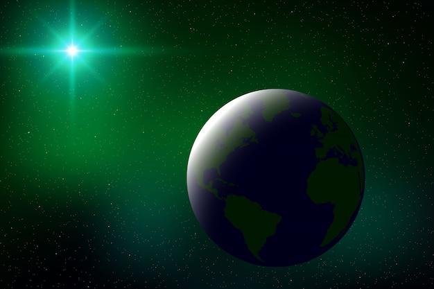 Fundo de espaço com eclipse solar total para seu projeto