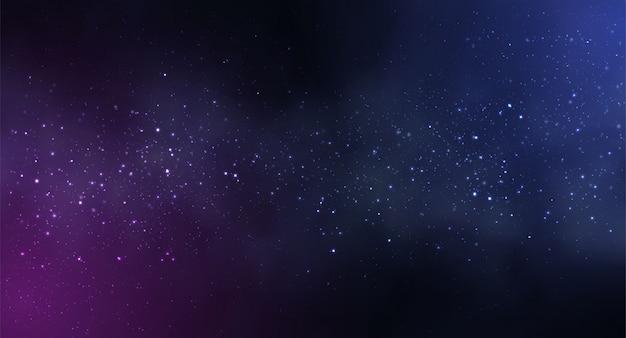 Fundo de espaço cosmos com céu estrelado