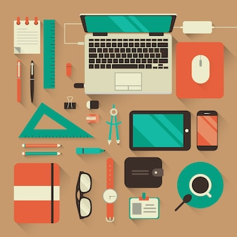 Fundo de espaço de trabalho de design gráfico