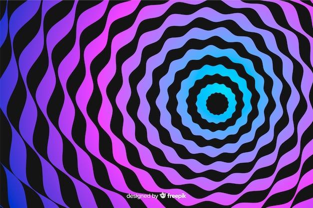 Fundo de espiral de efeito de ilusão