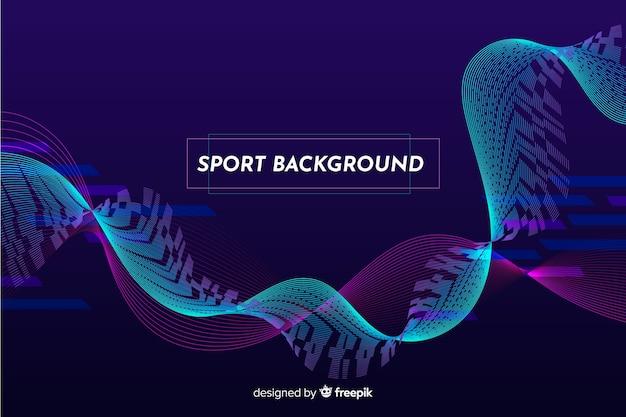 Fundo de esporte abstrato de onda azul