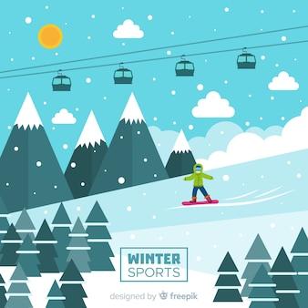 Fundo de esporte de inverno moderno