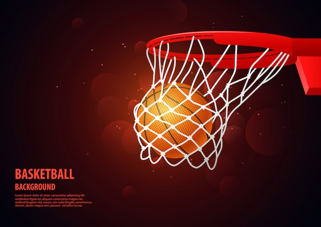 Fundo de esporte moderno de basquete.