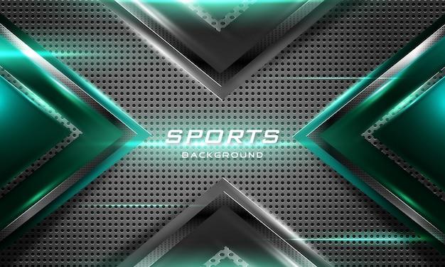 Fundo de esporte realista com efeito de luz