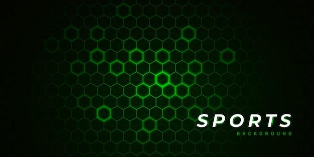 Fundo de esportes verde moderno polígono