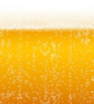 Fundo de espuma de cerveja horizontalmente sem costura padrão