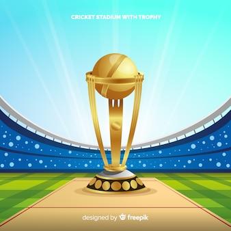 Fundo de estádio de críquete moderno
