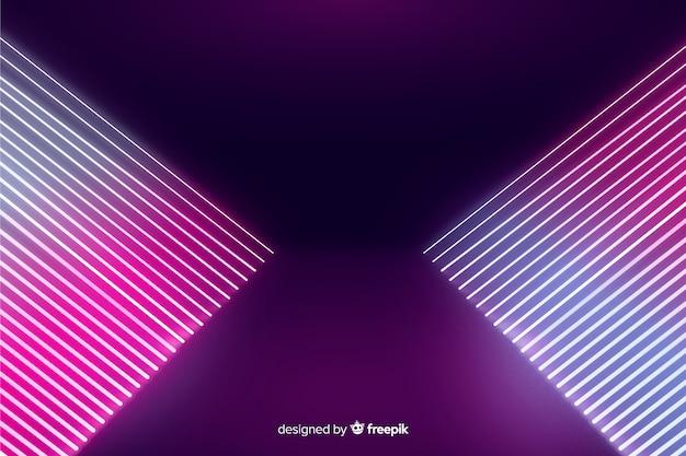 Fundo de estágio abstrato luzes de neon