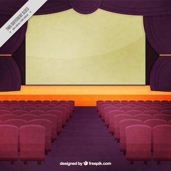 Fundo de estágio do teatro do vintage