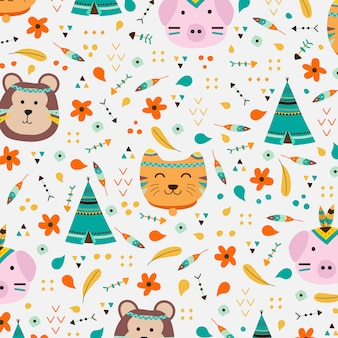 Fundo de estilo animal boho