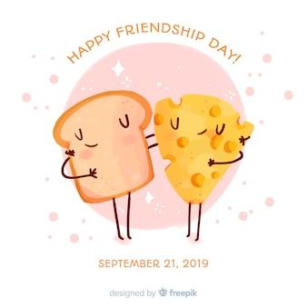 Fundo de estilo aquarela dia amizade