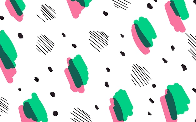 Fundo de estilo colorido memphis geométrica