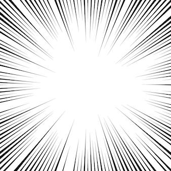 Fundo de estilo cômico retrô com raios de sol