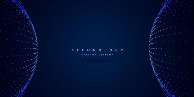 Fundo de estilo de ciência e tecnologia digital