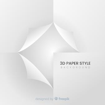 Fundo de estilo de papel 3d branco