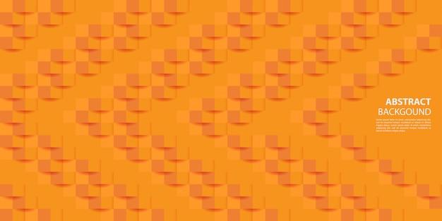 Fundo de estilo de papel 3d laranja